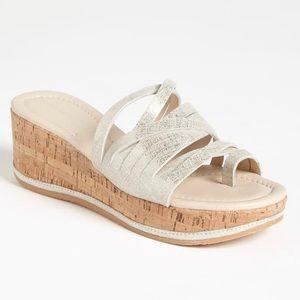 Donald J Pliner cork wedge sandals size 7
